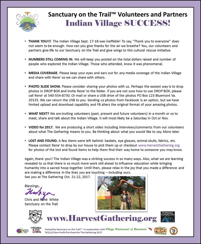 Indian Village Success!!! Thank You Volunteers and Partners - The Indian  Village